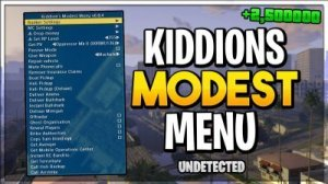 GTA V Online Kiddion's Modest External Menu v1.54