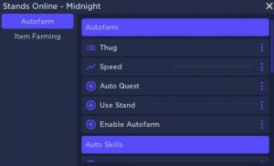 Roblox - Stands Online Autofarm GUI